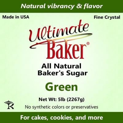 Ultimate Baker Natural Baker's Sugar Green (1x8lb)