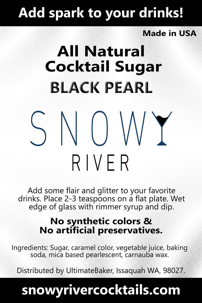 Snowy River Cocktail Sugar  Black Pearl Shine (1x8oz)