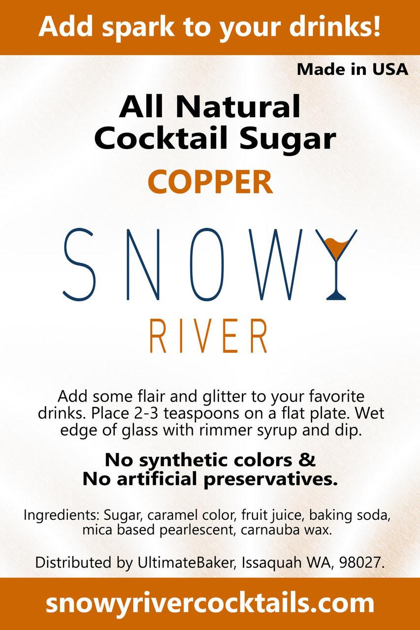 Snowy River Cocktail Sugar Copper Shine (1x5lb)