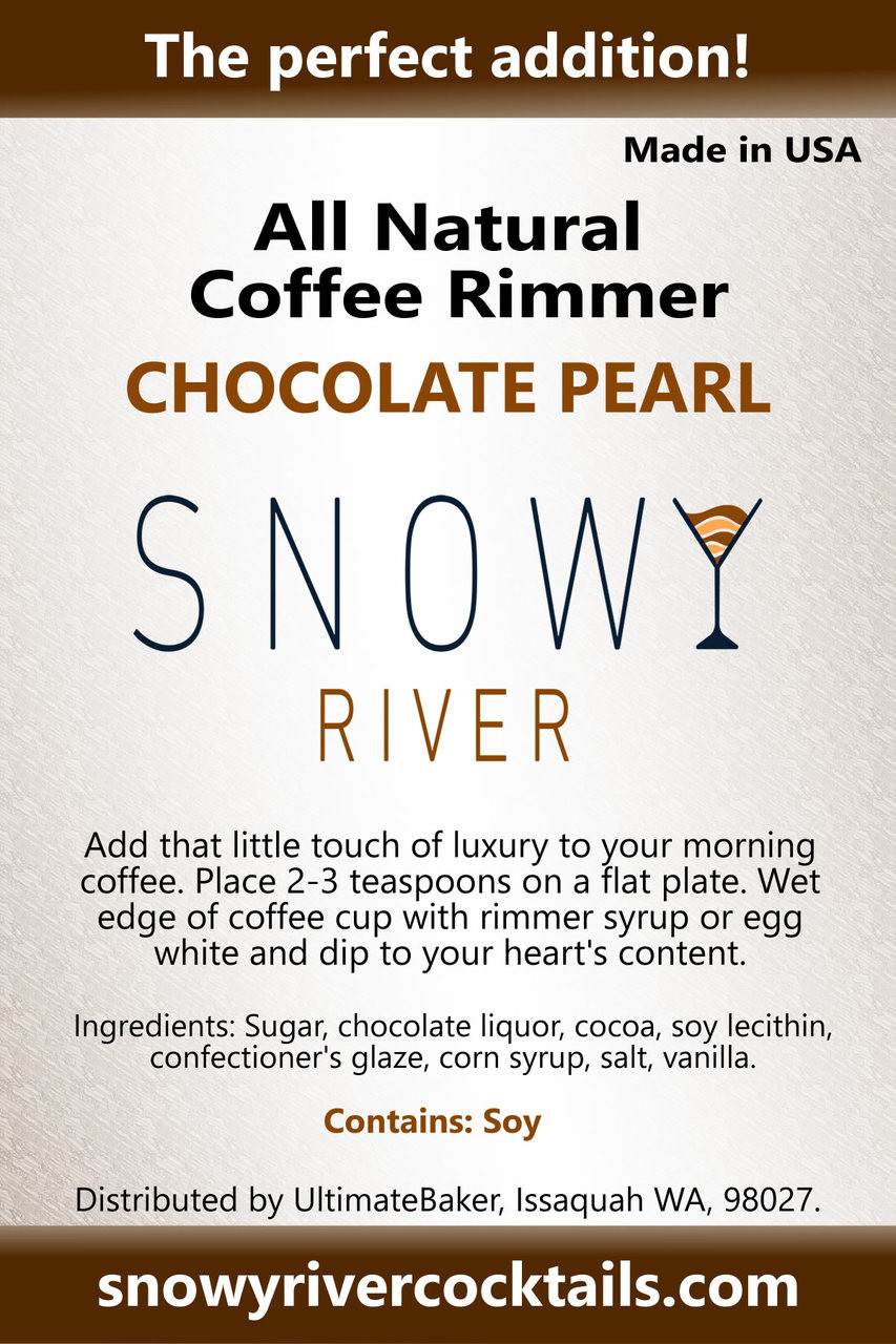 Snowy River Coffee Rimmer Chocolate Pearl (1x5lb)