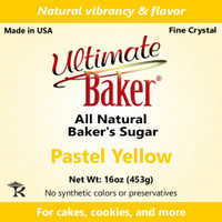 Ultimate Baker Natural Sanding Sugar (Fine Crystal) Pastel Yellow (1x1lb)