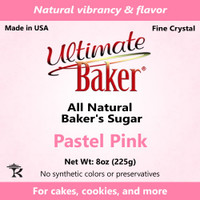 Ultimate Baker Natural Sanding Sugar (Fine Crystals) Pastel Pink (1x8oz)