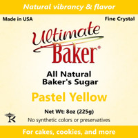 Ultimate Baker Natural Sanding Sugar (Fine Crystals) Pastel Yellow (1x8oz)
