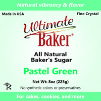 Ultimate Baker Natural Sanding Sugar (Fine Crystals) Pastel Green (1x8oz)