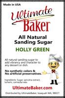 Ultimate Baker Natural Sanding Sugar (Med. Crystals) Holly Green (1x5lb)