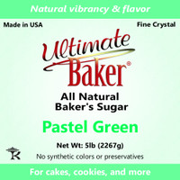 Ultimate Baker Natural Sanding Sugar (Fine Crystals) Pastel Green (1x5lb)