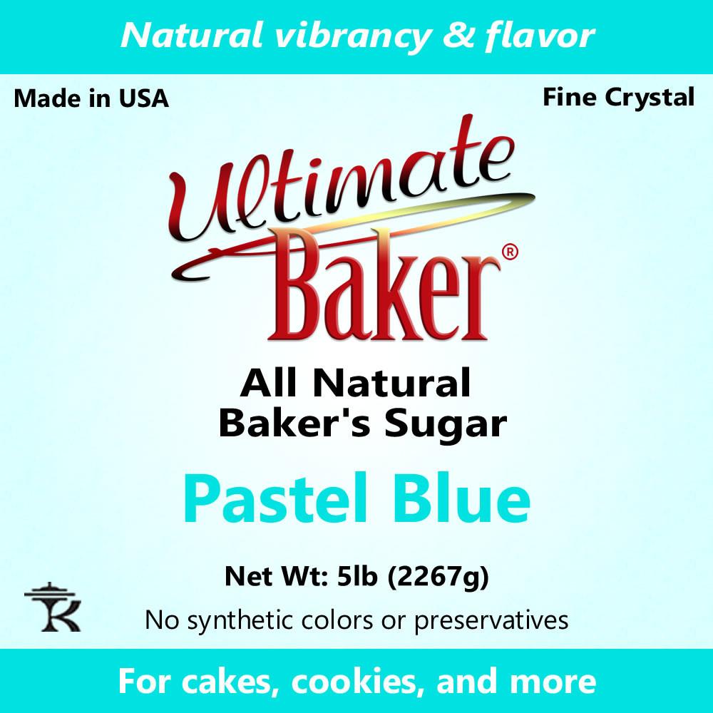 Ultimate Baker Natural Sanding Sugar (Fine Crystals) Pastel Blue (1x5lb)