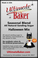 Ultimate Baker Natural Sanding Sugar Halloween Mix (1x5lb)