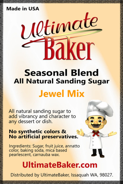 Ultimate Baker Natural Sanding Sugar Jewels (1x5lb)