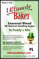 Ultimate Baker Natural Sanding Sugar St.Paddy's Mix (1x1lb)