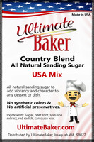 Ultimate Baker Natural Sanding Sugar 4th July Mix (1x1lb)