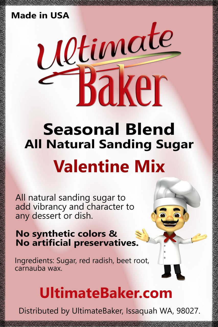 Ultimate Baker Natural Sanding Sugar Valentine Mix (1x1lb)