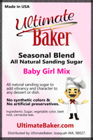Ultimate Baker Natural Sanding Sugar Baby Girl Mix (1x1lb)
