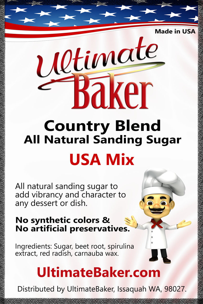 Ultimate Baker Country Blend Sanding Sugar USA Mix (1x1lb)