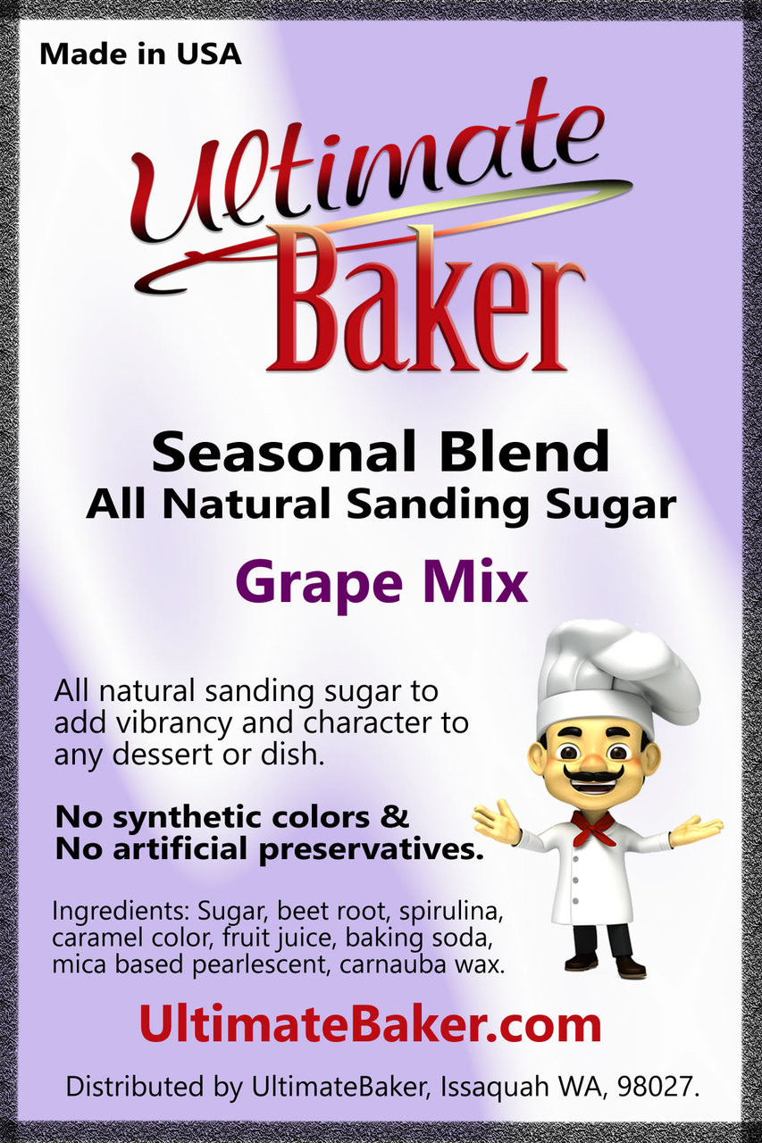 Ultimate Baker Natural Sanding Sugar Purple Grape (1x8lb)