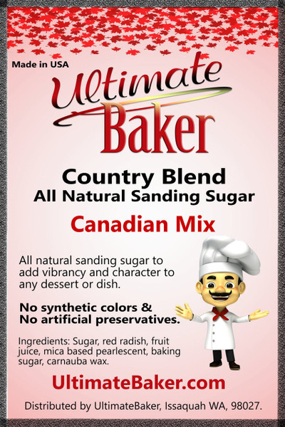 Ultimate Baker Country Blend Sanding Sugar Canada Mix (1x8lb)