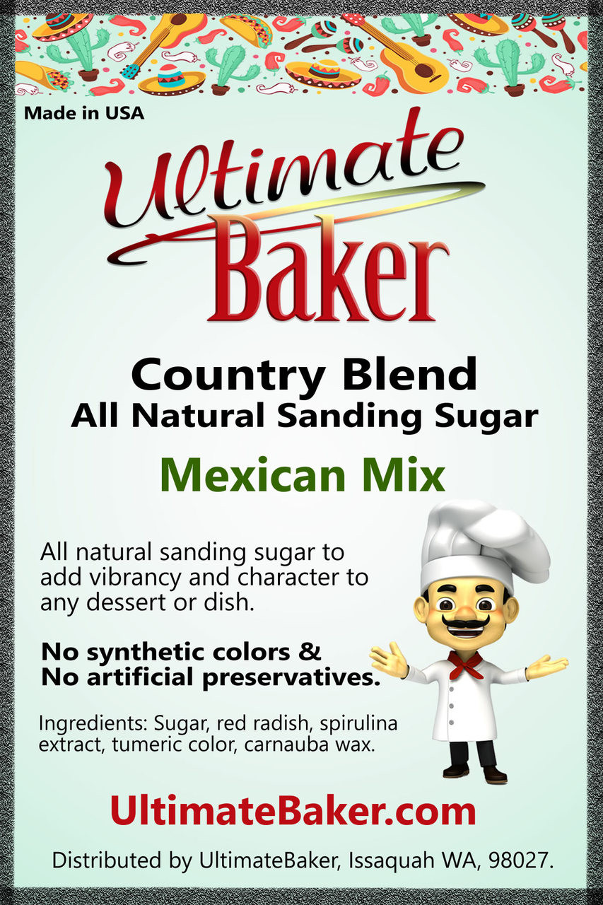 Ultimate Baker Country Blend Sanding Sugar Mexican Mix (1x8lb)