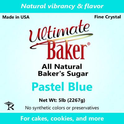 Ultimate Baker Natural Sanding Sugar (Fine Crystals) Pastel Blue (1x8lb)