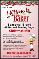 Ultimate Baker Natural Sanding Sugar Christmas Mix (1x16lb)
