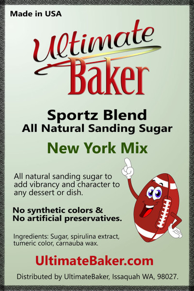 Ultimate Baker Sportz Blend Sanding Sugar New York Mix (1x16lb)