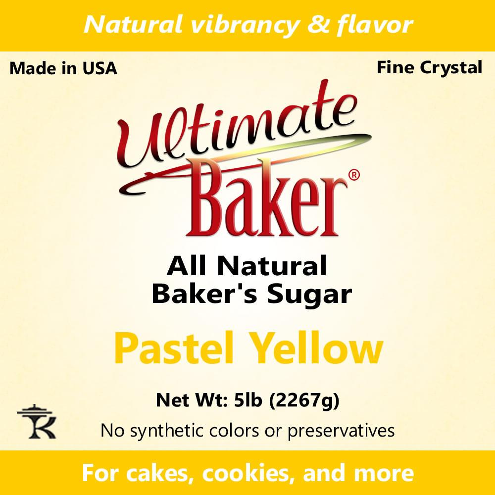 Ultimate Baker Natural Sanding Sugar (Fine Crystals) Pastel Yellow (1x16lb)