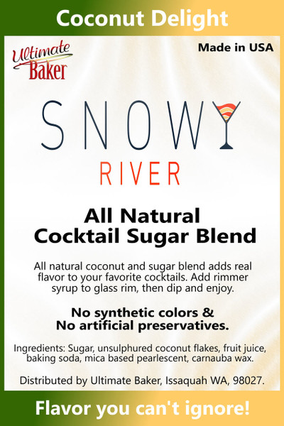 Snowy River Cocktail Sugar Coconut Delight (1x8oz)
