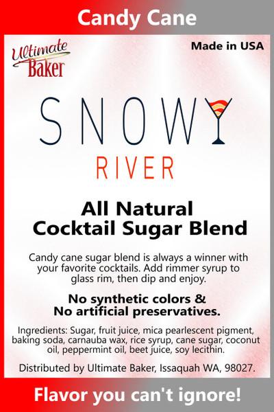 Snowy River Cocktail Sugar Candy Cane (1x8oz)
