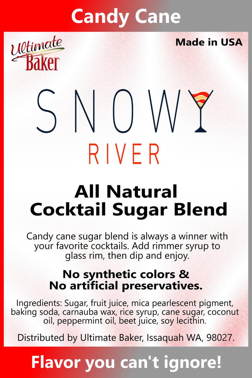 Snowy River Cocktail Sugar Candy Cane (1x1lb)