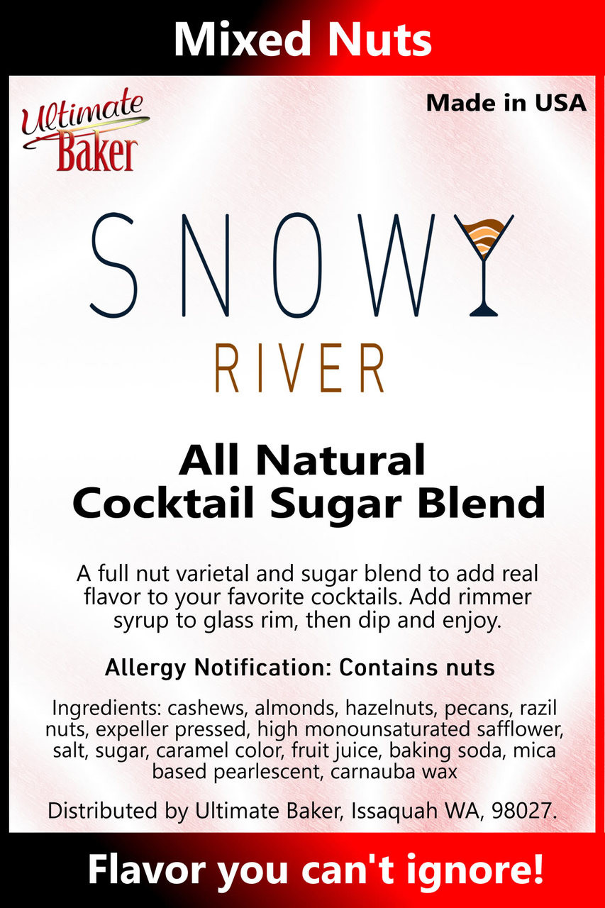 Snowy River Cocktail Sugar Mixed Nuts (1x1lb)