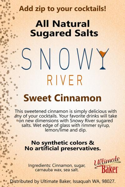 Snowy River Cocktail Sugared Salts Sweet Cinnamon (1x1lb)