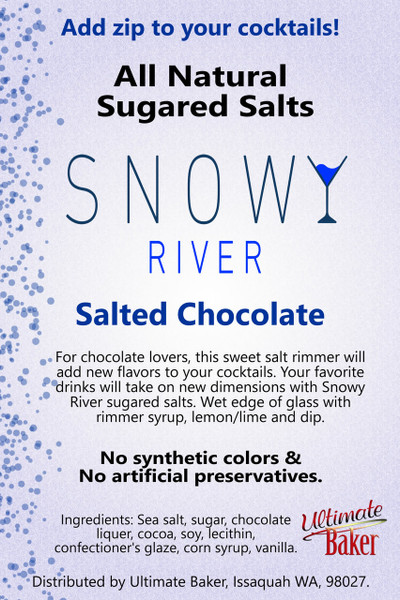 Snowy River Cocktail Sugared Salts Salted Chocolate (1x1lb)
