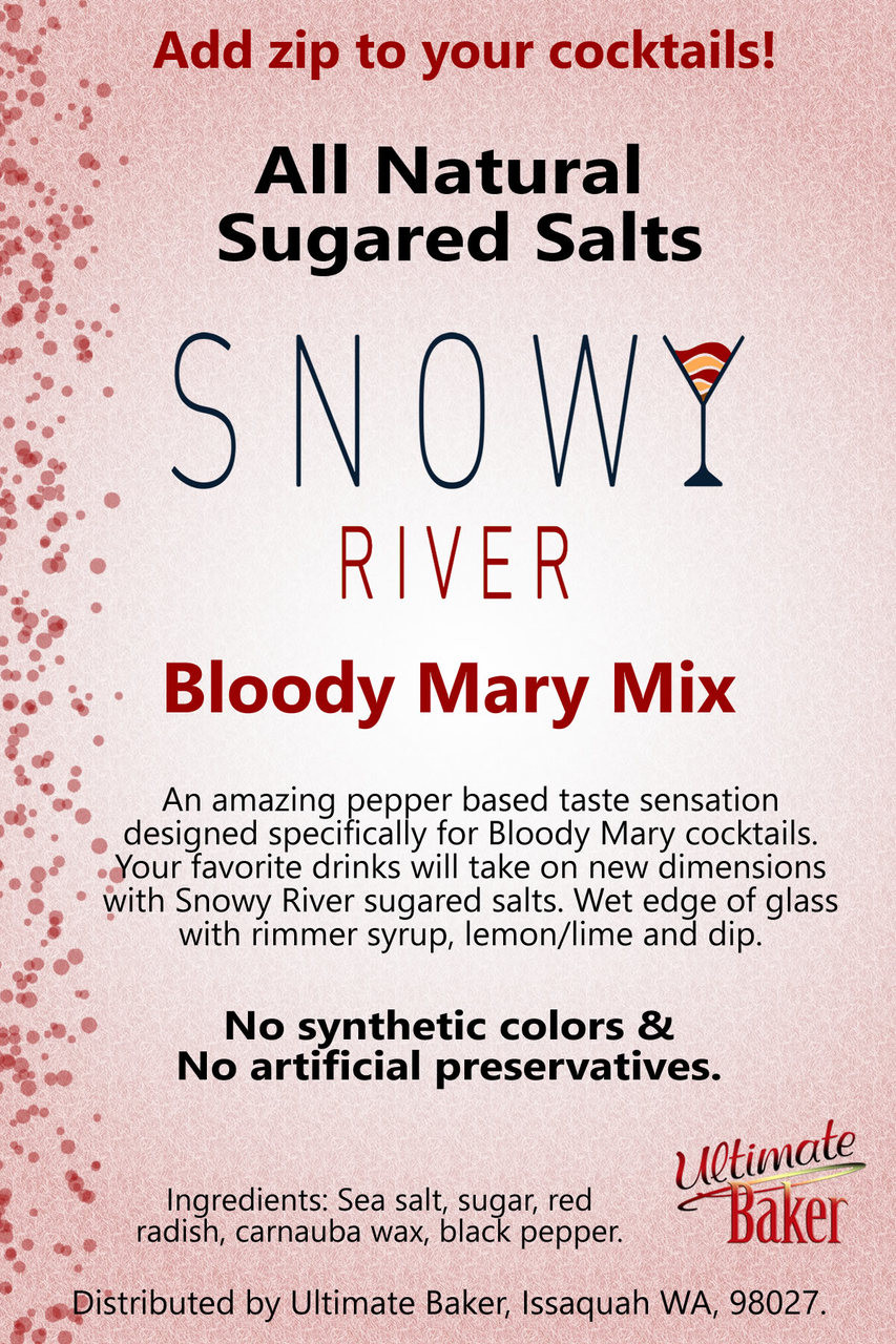Snowy River Cocktail Sugared Salts Bloody Mary Mix (1x5lb)