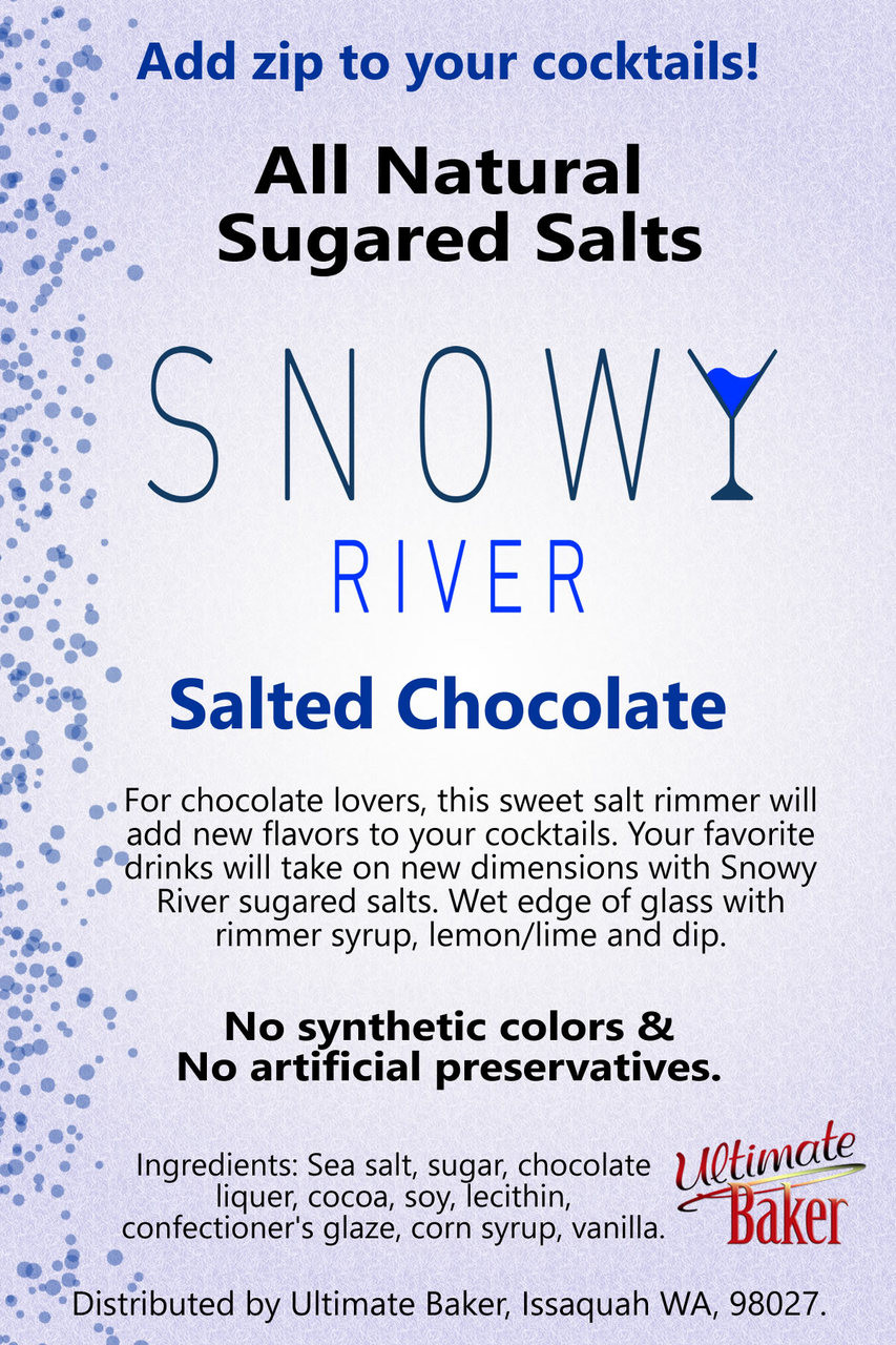 Snowy River Cocktail Sugared Salts Salted Chocolate (1x5lb)