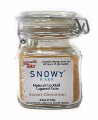 Snowy River Cocktail Sugared Salts Sweet Cinnamon (1x3.5oz)