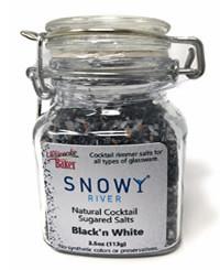 Snowy River Cocktail Sugared Salts Black & White (1x3.5oz)