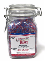 Ultimate Baker Natural Sanding Sugar 4th July Mix (1x8oz Glass)