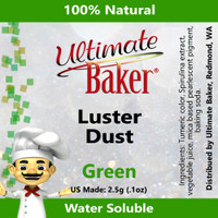Ultimate Baker Luster Dust Green (1x2.5g)