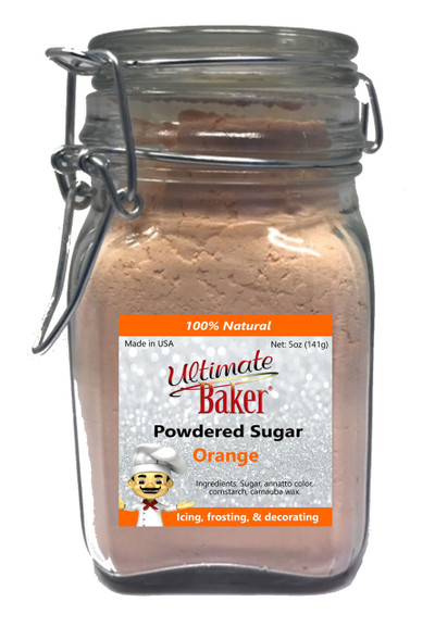Ultimate Baker Natural Powdered Sugar Orange (1x5oz Glass)