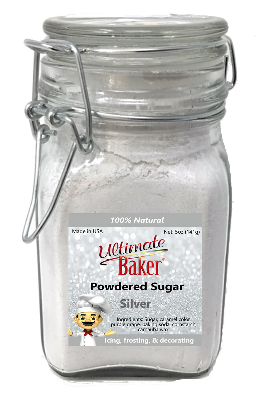 Ultimate Baker Natural Powdered Sugar Silver (1x5oz Glass)