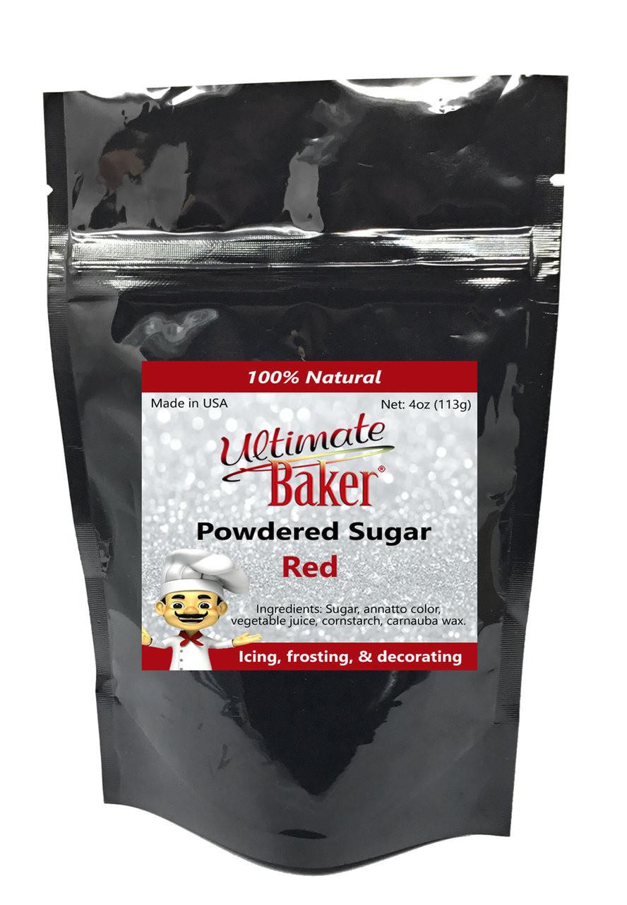Ultimate Baker Natural Powdered Sugar Red (1x4oz Bag)