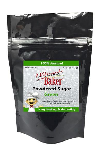 Ultimate Baker Natural Powdered Sugar Green (1x4oz Bag)