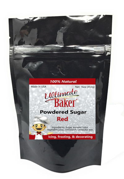Ultimate Baker Natural Powdered Sugar Red (1x1lb)