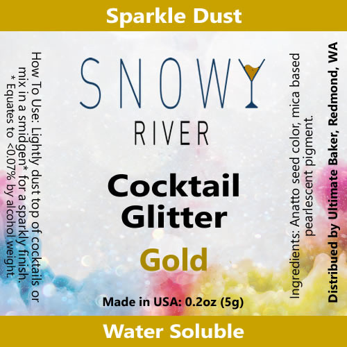 Snowy River Cocktail Glitter Gold (1x5.0g)
