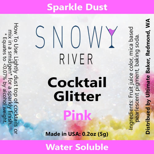 Snowy River Cocktail Glitter Pink (1x5.0g)