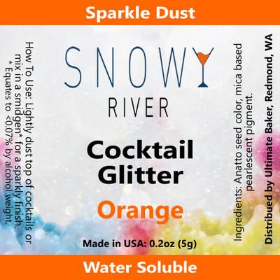 Snowy River Cocktail Glitter Orange (1x5.0g)