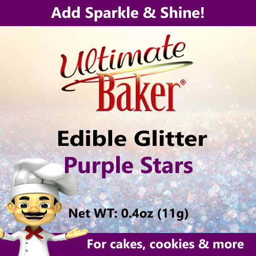 Ultimate Baker Edible Glitter Purple Stars (1x11g)