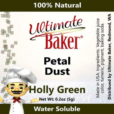 Ultimate Baker Petal Dust Holly Green (1x5.0g)