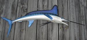 White marlin fiberglass fish replica
