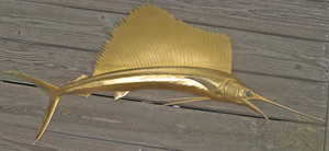Fish Mount Design Concepts-Gold Sailfish Replica