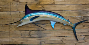 Blue Marlin 55 inch half mount fiberglass fish replica